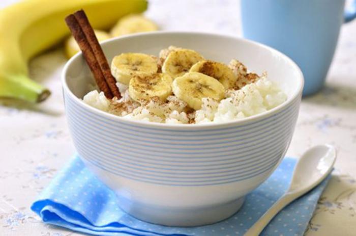 Arroz con Leche y Plátano