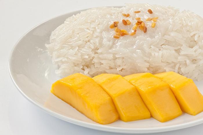 Arroz Glutinoso con Mango Postre Tailandés