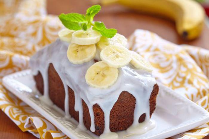 Bizcocho de Plátano con Glaseado