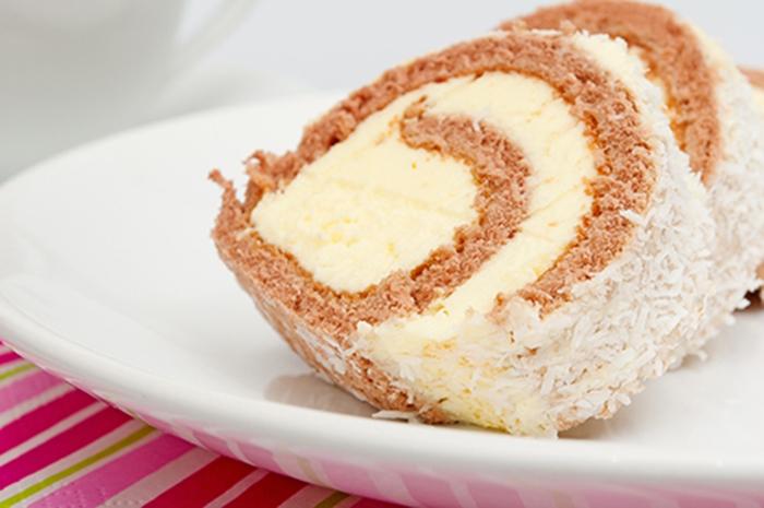 Brazo de Gitano con Crema Pastelera y Coco