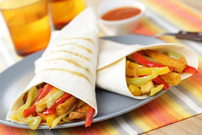 Burritos con Tofu, Zanahoria y Pimiento