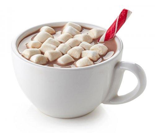 Cacao Caliente con Malvaviscos y Caramelo