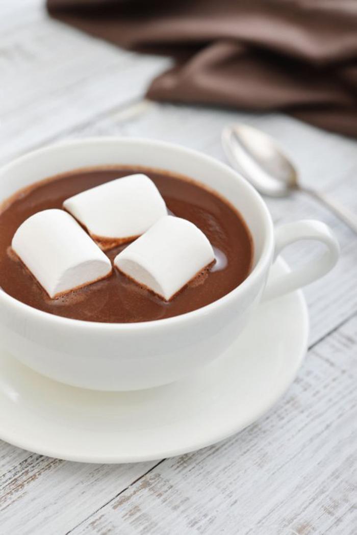 Chocolate caliente con Malvaviscos y Canela