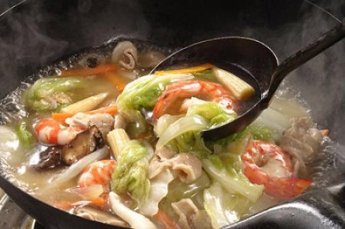 Chop Suey de Langostinos