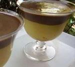 Copas de Compota de Manzana, Cremoso de Azafrán y Chocolate.