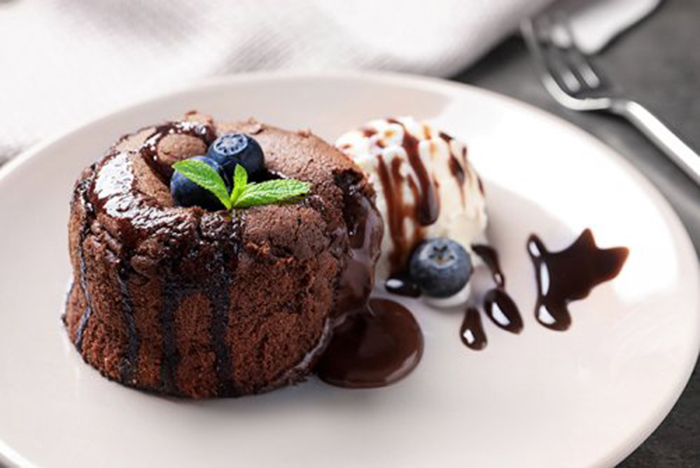 Coulant de Chocolate Vegano