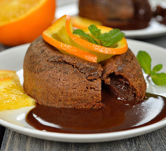 Coulant de Chocolate y Naranja