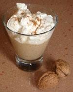 Crema de Nueces con Leche y nata.