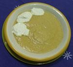 Crema de Puerros con naranja.