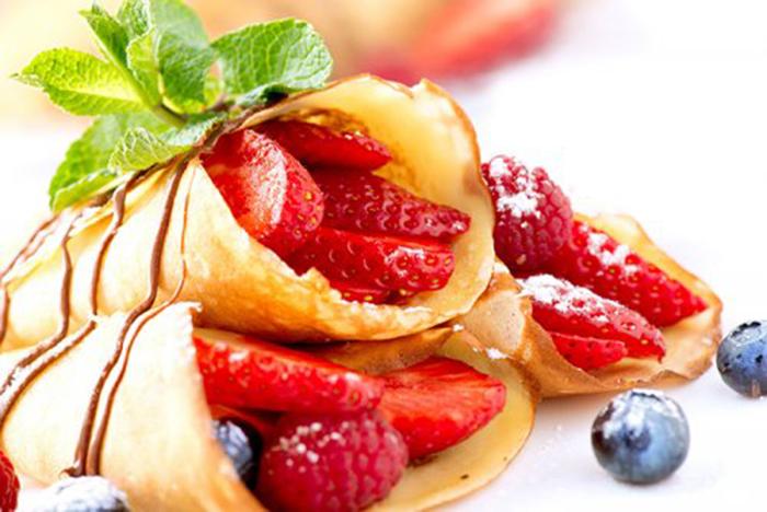 Crepes con Fresas