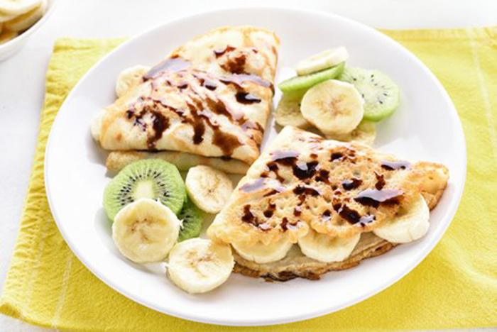 Crepes de Kiwi y Plátano