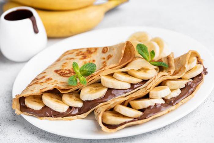 Crepes de Plátano con Chocolate