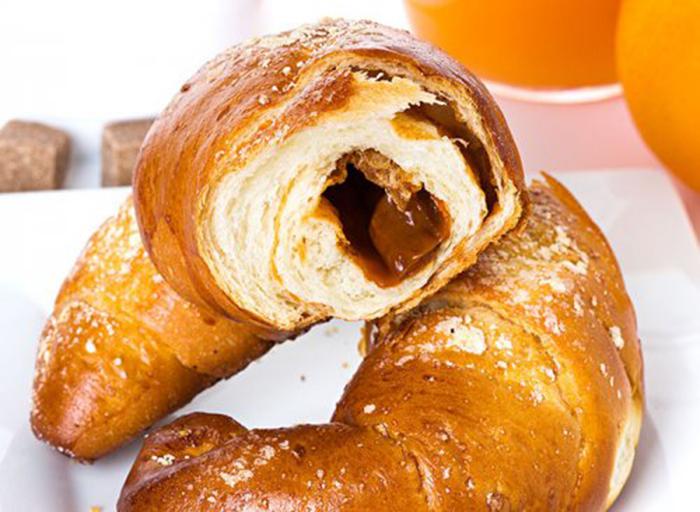 Croissant Relleno de Dulce de Leche