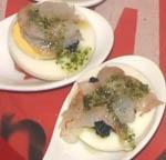 Cucharillas de Caviar y Gambas