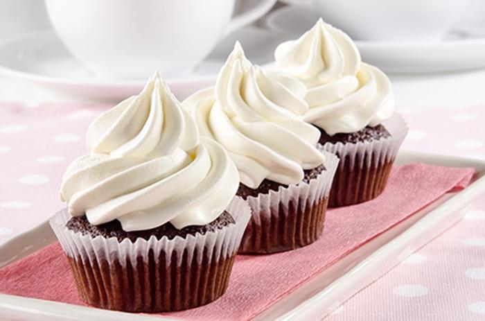 Cupcakes de Chocolate con Nata