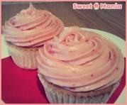 Cupcakes de vainilla y fresa
