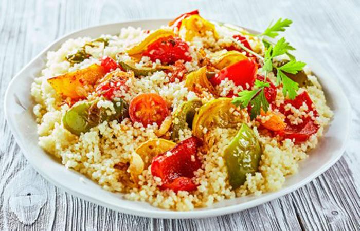 Cuscús con Calabacín, Tomate y Pimientos