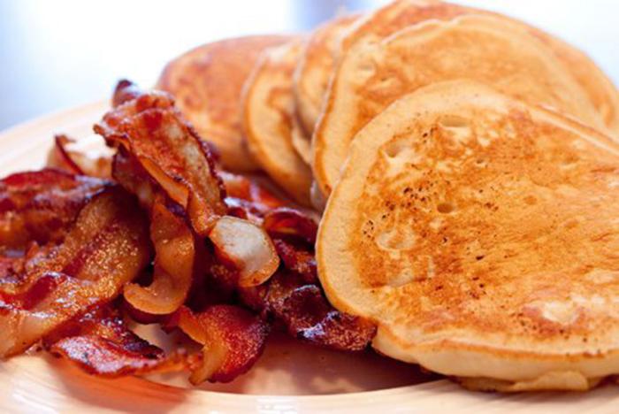 Desayuno de Tortitas con Bacon