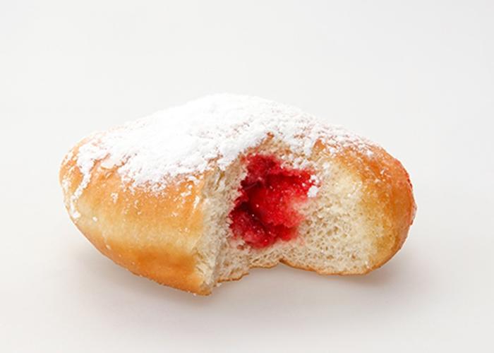 Donuts Rellenos de Mermelada de Fresa