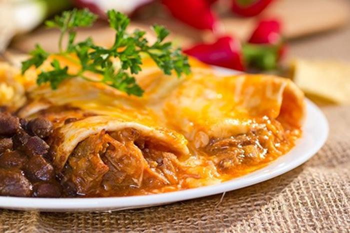 Enchiladas de Carne.