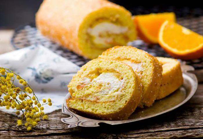 Enrollado con Crema de Naranja