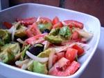 Ensalada de Aguacate y Tomate.