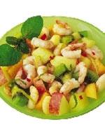 Ensalada de Camarones y Frutas.