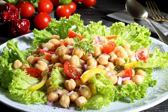 Ensalada de Garbanzos con Tomate