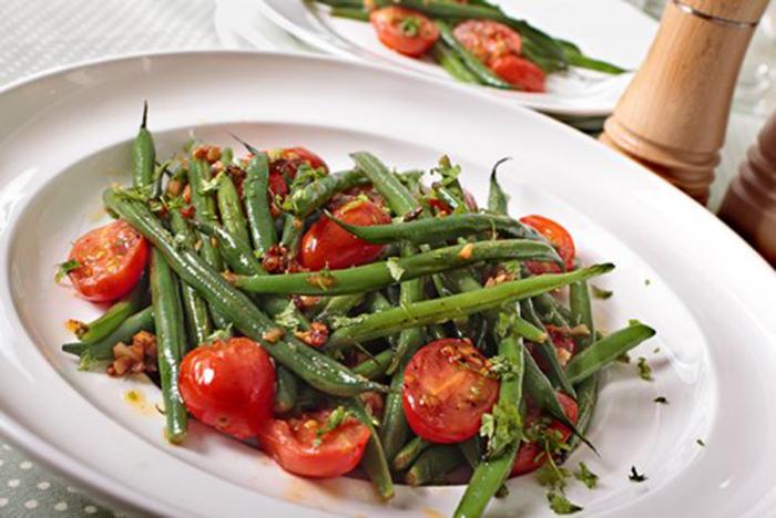 Ensalada de Judías Verdes y Tomates