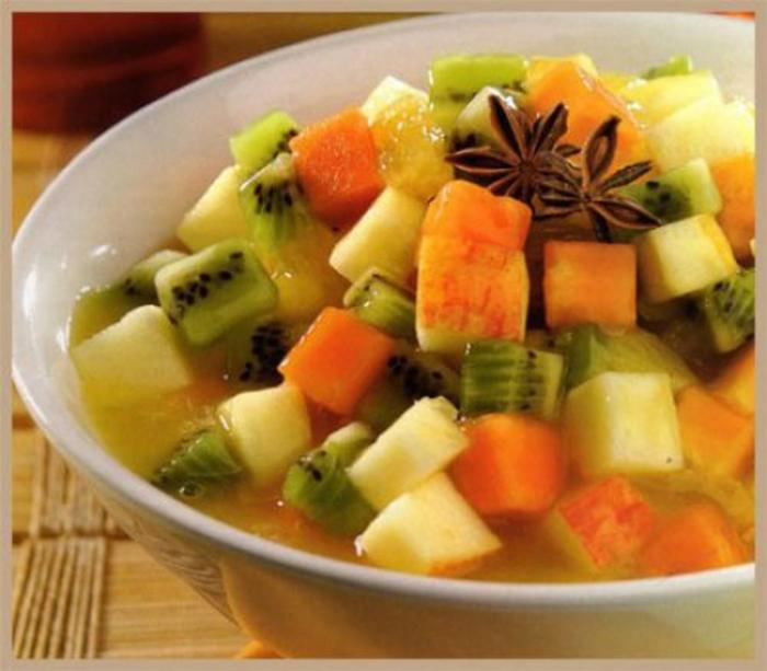 Ensalada de Melon, Manzana y Kiwi