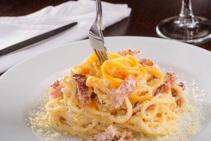 Espaguetis al Huevo con Bacon