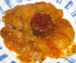 Estofado de Patatas con Costilla y Butifarra (Chef 2000).