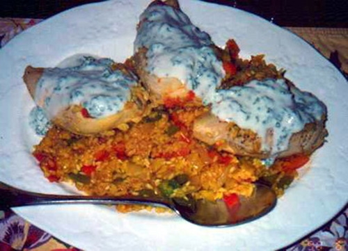 Filetes de Pavo con Salsa de Coco y Yogurt