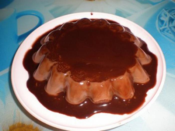 Flan de Chocolate (de Huevo).