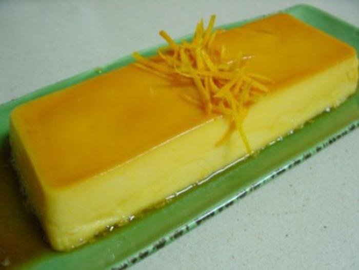 Flan de Zumo de Naranja.