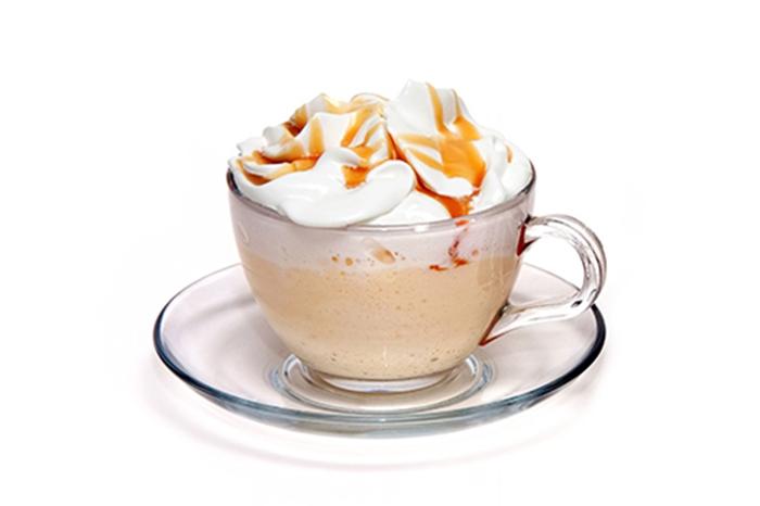 Frapuccino con Nata y Caramelo