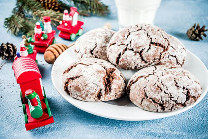 Galletas Navideñas de Chocolate Nevadas