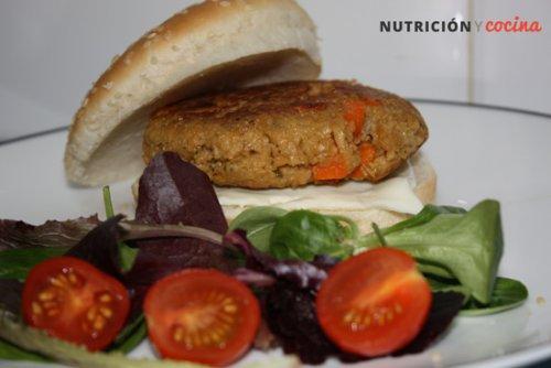 Hamburguesa vegetariana de soja texturizada