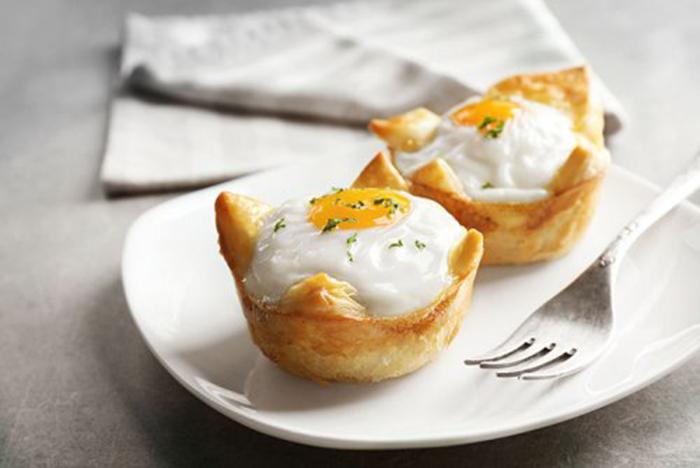 Huevos en Nido de Hojaldre