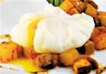 Huevos Escalfados con Champiñones.
