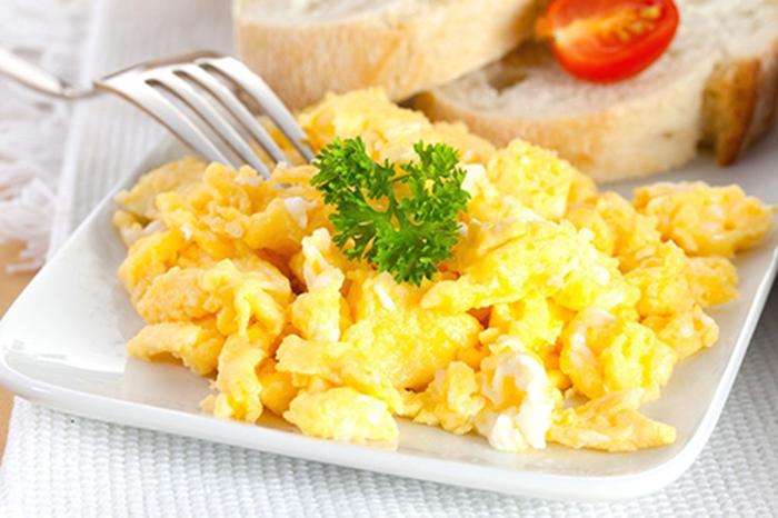 Huevos Revueltos de Desayuno