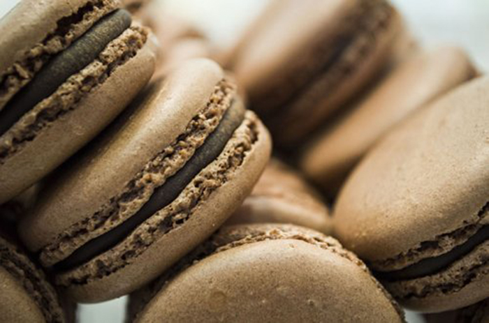 Macarons de Chocolate Negro