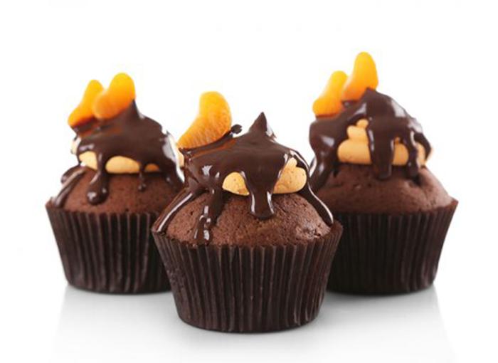 Magdalenas con Chocolate y Mandarina
