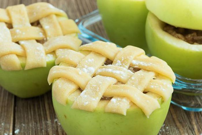 Manzanas al Horno con Hojaldre