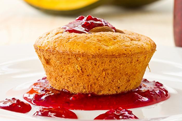Muffin de Calabaza con Mermelada de Frambuesa
