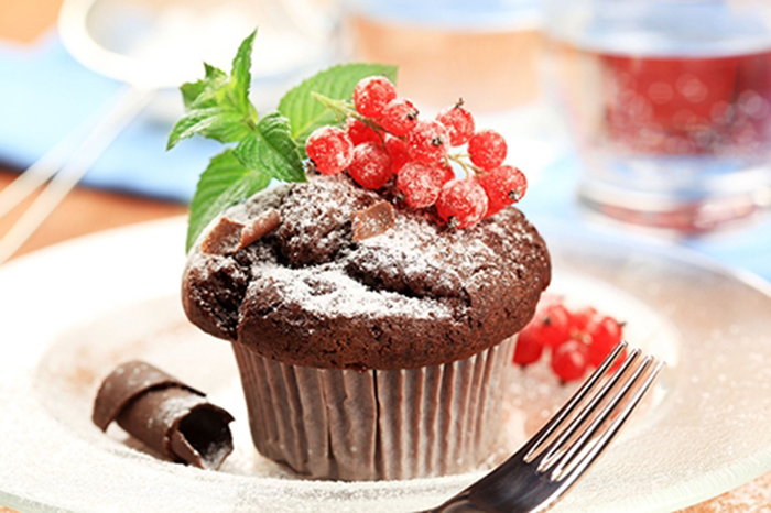Muffin de Chocolate con Grosellas