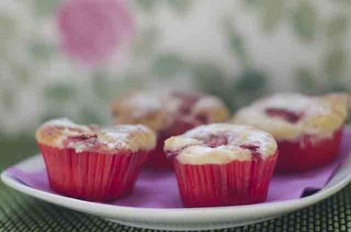 Muffins de fresas y queso