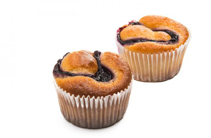 Muffins Rellenos de Mermelada de Frambuesa