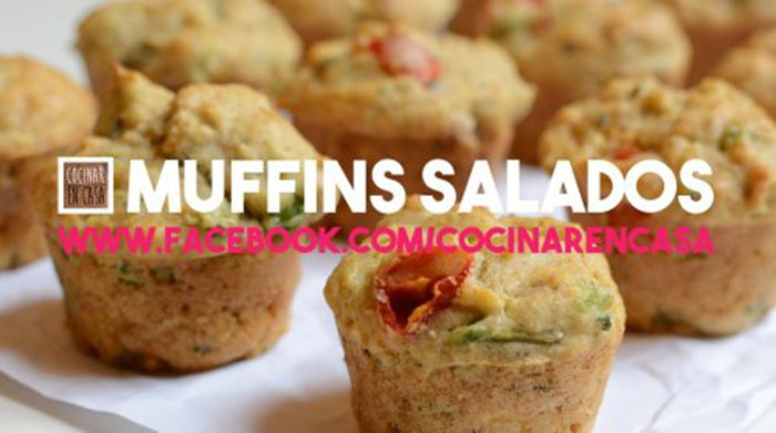 Muffins Salados de Aguacate y Tomate Cherry