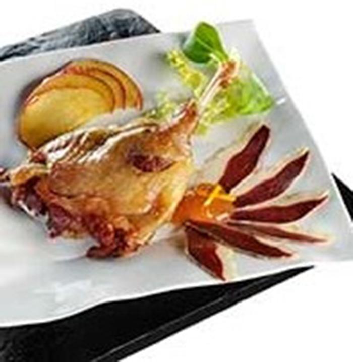 Muslos de pato con salsa de manzana